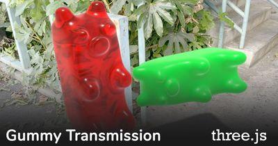 three.js: Gummy Transmission