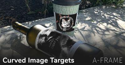 A-Frame: Curved Image Targets