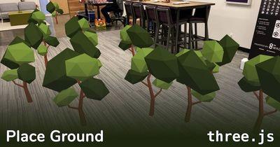 three.js: Place Ground