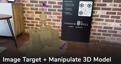 Image Target + SLAM Manipulate 3D Model