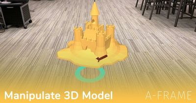 A-Frame: Manipulate 3D Model