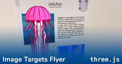 three.js: Image Targets Flyer